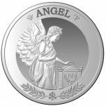 Napoleon Angel. Saint-Helena, Ascension and Tristan da Cunha 1 £- 2021 99,9 % silver coin, 1 oz