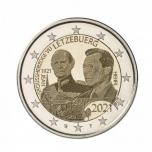 Luksemburgi  2021 a 2€ juubelimünt  - suurhertsog Jeani 100. sünniaastapäev. (hologrammiga)