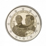 Luxembourg 2€ commemorative coin 2021 - The 100th anniversary of the Grand Duke Jean