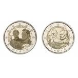 2 € юбилейная монета 2021 г. Люксембург - 100 лет со дня рождения Великого Герцога Жана