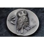 Athena's Owl - Cook Islands 5$ 2021 antque finish 99,9% silver coin 1 oz