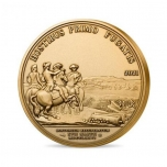 History of man kind - Washington. France 200 € 2021  99,9% Gold  Proof high relief coin, 1 oz