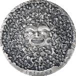 Dante Jumalik komöödia. Põrgu (nferno)-  Kameruuni  10 000 Fr 2021.a. antiikviimistlusega 99,9% hõbemünt, 1 kilo