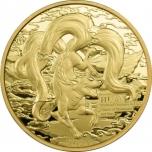 Мифические существа в мифологий гор и морей, Самоа 0,2$ 2021 г.  Медно-никелевая монета с позолотой