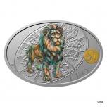 Silver coin Sign of Zodiac - Leo. Niue 1 $ 2021 99,9% silver coin 1 oz