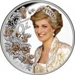Diana - Princess of Wales. Tokelau 5 $ 2021 99,9% silver with selective gilding, 1 oz