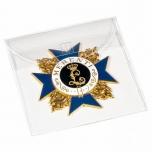 Protective plastic pocket for ordens, medallions etc9x9 cm