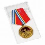 Protective plastic pocket for ordens, medallions etc 5x10 cm
