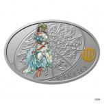 Silver coin Sign of Zodiac - Virgo. Niue 1 $ 2021 99,9% silver coin 1 oz