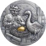 The Goose that Laid the Golden Eggs. Palau 10$ 2020 2 oz silver coim