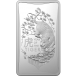 Год Тигра 2022 г. - Австралия 1 $, 99.9% серебрянная монета 1/2 унции