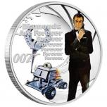 """""""Джеймс Бонд - Бриллианты вечны"""". Тувалу 1/2 $ 2021 года. 99,99% серебряная монета с цветной печатью, 15,553 гp."""