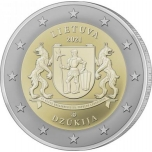 Lithuania 2€ commemorative coin 2021 - Dzūkija coin card