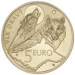 Slovakian Flora ja Fauna. Susi. Slovakia 5€ 2021 erikoisraha