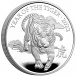 Год Тигра 2022 г. -  Великобритания 5 £ 2021 года. Mедно-никилиевая монета.