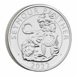 Королевские звери Тюдоров Сеймурская пантера. Великобритания 5£  2022 г. Mедно-никилиевая монета.