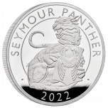 The Royal Tudor Beast - The Panther of Seymour  UK 2£ 2022 1 oz 99,9% Silver proofCoin