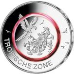 """Saksamaa 2017.a. 5€ polümeerringiga münt """"Troopiline kliimavöönd"""""""