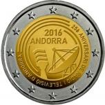 Andorra 2 Eur 2016  juubelimünt – 25 aasta möödumine Andorra riigiraadio ja -televisiooni sünnist