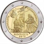 2 € юбилейная монета 2017 г. Словакия -  Истрополитанская Академия