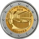 2 € юбилейная монета 2016 г.  Андорра -150 лет с  1866 года, новая реформа