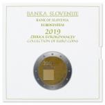 Годовой набор Евро монет Словении 2019 года - комплект