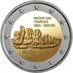 2 € юбилейная монета Мальта   2017 г. - Хаджар-Им храм