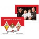 Годовой набор Евро монет  Монако 2017 года - комплект