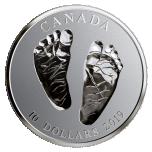 Teve tuloa maailmaan!  Kanada 10$ 2019.v. 99,99% hopearaha, 15.87 g