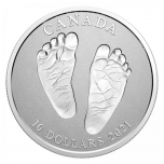 Welcome to the World 2021 Baby -  Canada 10$  2021 99,99% Silver coin,  15,87 g