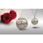 Armastuse roos - antiikviimistlusega Cooki saarte 99,9% hõbemünt - kaelakee