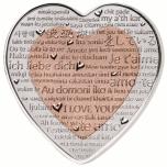 """""""Празднование любви"""" – 10 $ Фиджи 2018. г. 99,9% серебряная монета с медной вставкой в форме сердца. 37.4 гp."""