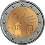 2 € юбилейная монета 2017 г. Португалия 150 лет общественной безопасности