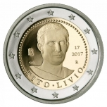 2 € юбилейная монета Италия   2017 г. -2000 лет со дня смерти Тита Ливия