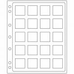 Plastikleht ENCAP Quadrum kapslis müntidele 2 lehte pakis
