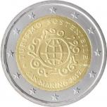 2 € юбилейная монета 2017  г.Сан -Марино -Международный год туризма