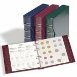 Альбом NUMIS для монет  Classic с кассетой -содержит 5 листов, бордовый