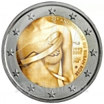 2 € юбилейная монета 2017  г.Франция - 25 лет кампании борьбы против рака груди