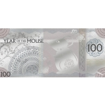Year of the Mouse Silvernote Mongolia 100 Togrog 2020 99,9% silver, 5 g