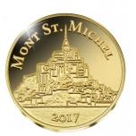 Mont Saint-Michel, Mali  100 Fr. 2017.v. 99,9%  kultaraha 0,5 g