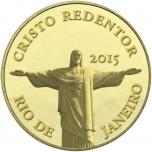 Lunastaja Kristuse kuju -Christo Redentor 100 Congo Fr. 2015.a. 99,9%  kuldmünt 0,5 g