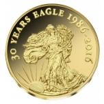 Eagle mündi 30.aastapäev - Kongo 100  Fr. 2016.a. 99,9%  kuldmünt 0,5 g