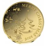 С Рождеством! - 2016 г.  99,9% золотая монета 0,5 гр