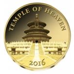 Храм Неба - 2016 г.  99,9% золотая монета 0,5 гр