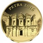 Пе́тра - -Мали 100 франков 2016 г.  99,9% золотая монета 0,5 гр
