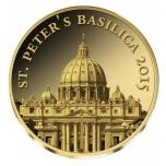Собор Святого Петра - 2015 г.  99,9% золотая монета 0,5 гр