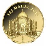 Тадж-Махал -  Респу́блика Кот-д'Ивуа́р 100 франков 2016 г. 99,9% золотая монета  0,5 гр
