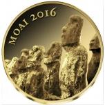 Moai -Tśaad 3 000 Fr. 2016.v. 99,9%  kultaraha 0,5 g