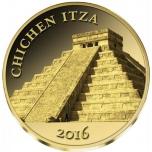 Chichen Itza 100 Mali  Fr. 2016 .a. 99,9%  kuldmünt 0,5 g