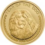 Koera aasta 2018 - Mongoolia 99,9% kuldmünt - 0,5 g